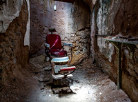 Red Barber Chair in Cell