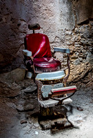 Red Barber Chair in Cell 4